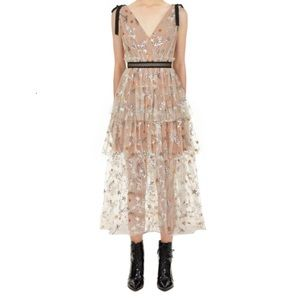 NWOT Self-Portrait Star Mesh Dress
